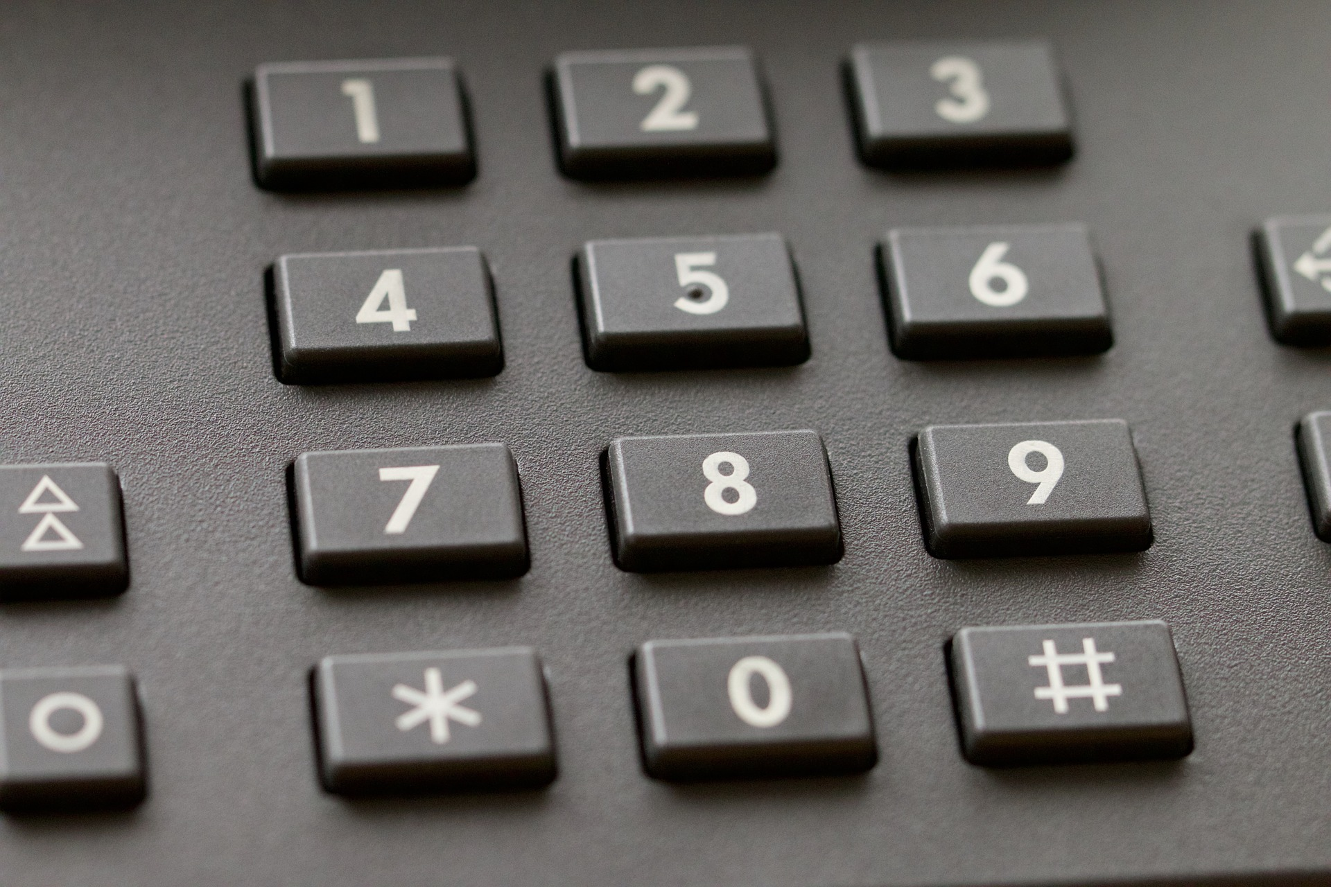 Numbers on the phone
